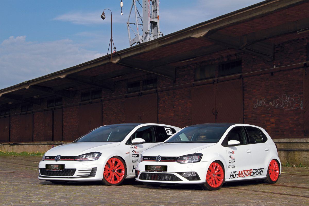 golf 7 gti im doppelpack mit polo gti von hg motorsport. Black Bedroom Furniture Sets. Home Design Ideas