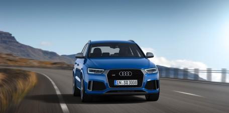 Setzt bald zum Sprung an: Der Audi RS Q3 performance schnellt in 4,4 Sekunden auf Tempo 100.