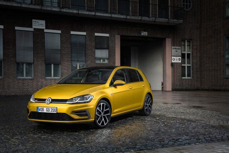 Frontansicht des VW Golf 7 Facelift
