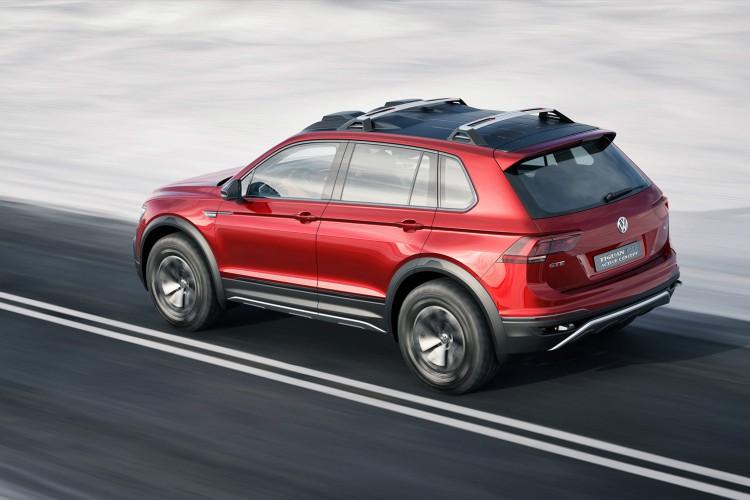 Knackig in der Figur, intelligent im Antrieb: Das VW Tiguan GTE Active Concept will hoch hinaus.
