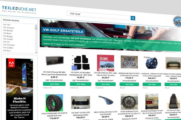 Auf Teilesuche.net finden Sie tausende Ersatzteile für Ihren VW Golf