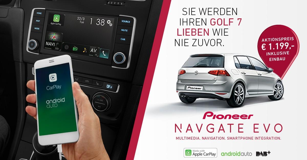 Pioneer Navgate Evo Macht Den Vw Golf 7 Zum Entertainer Vw News