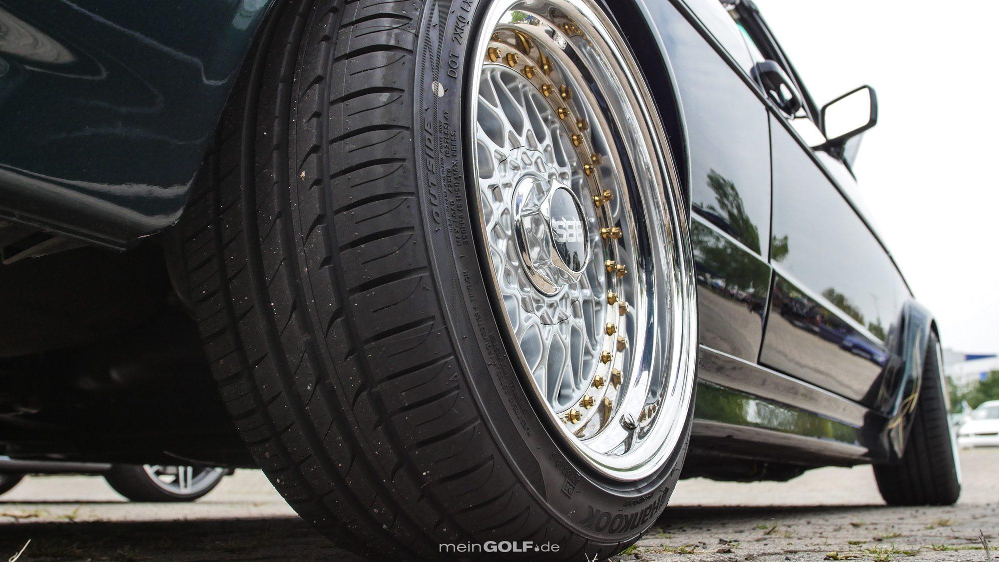 Klassische BBS machen sich auf dem VW Golf Cabrio bestens!