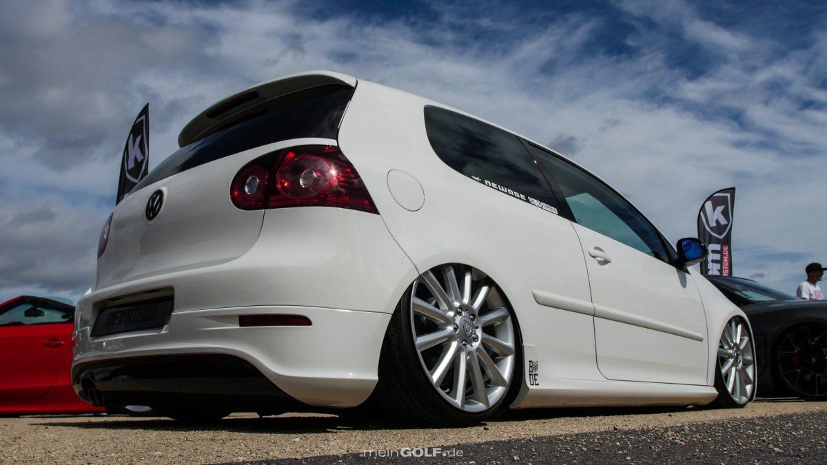 Heckpartie des VW Golf V
