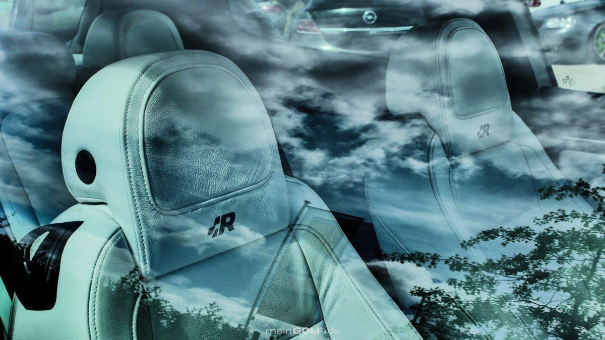 Weiße Ledersitze im VW Golf V