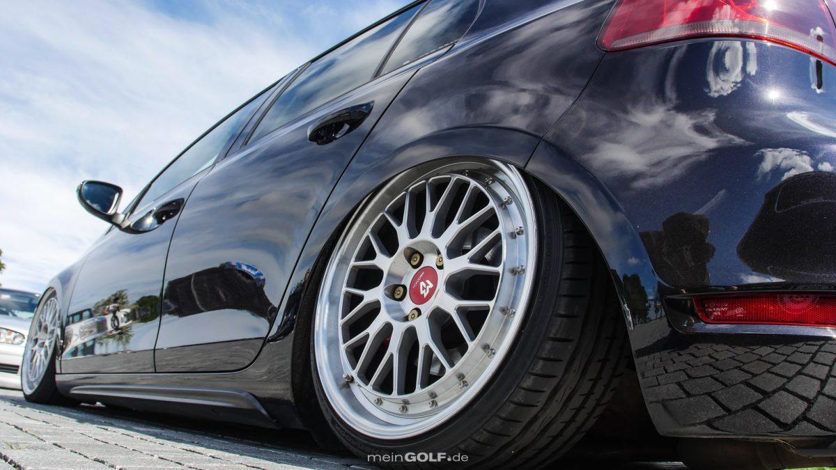 MBdesign-Räder auf dem VW Golf VI GTI
