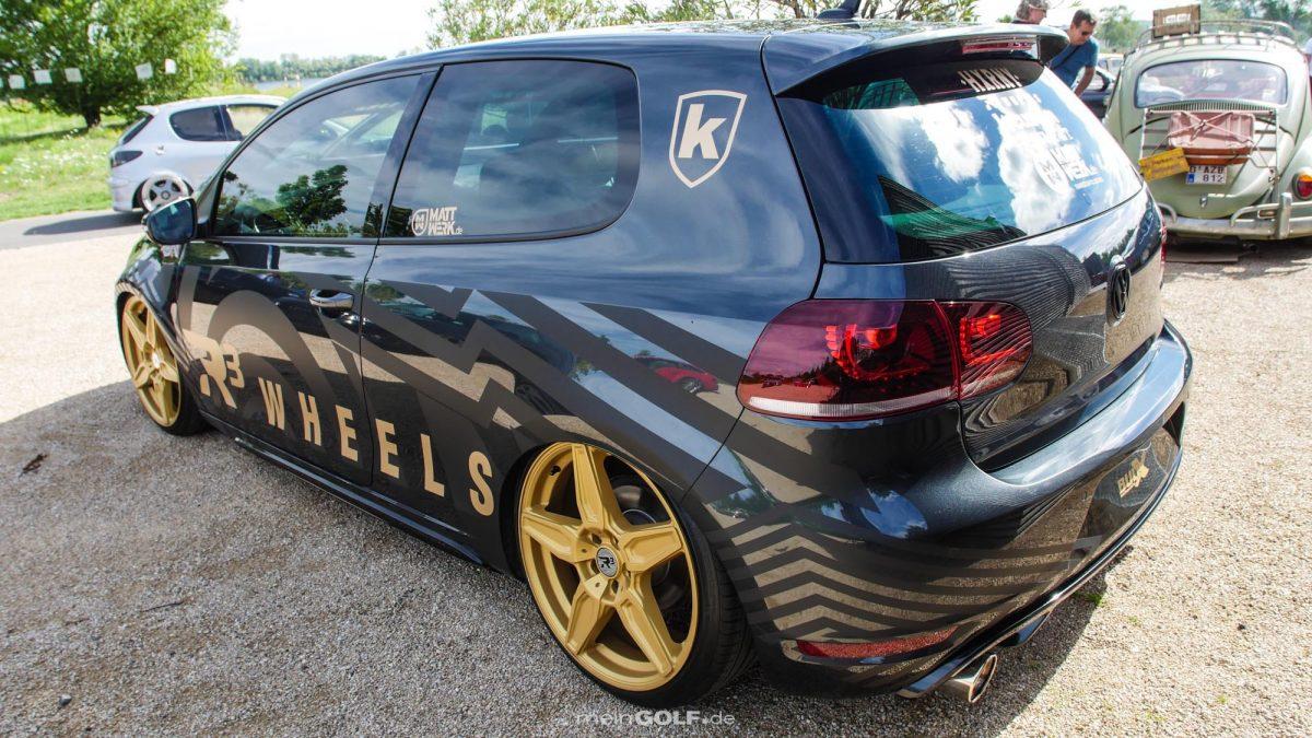 Heckpartie des VW Golf VI GTI