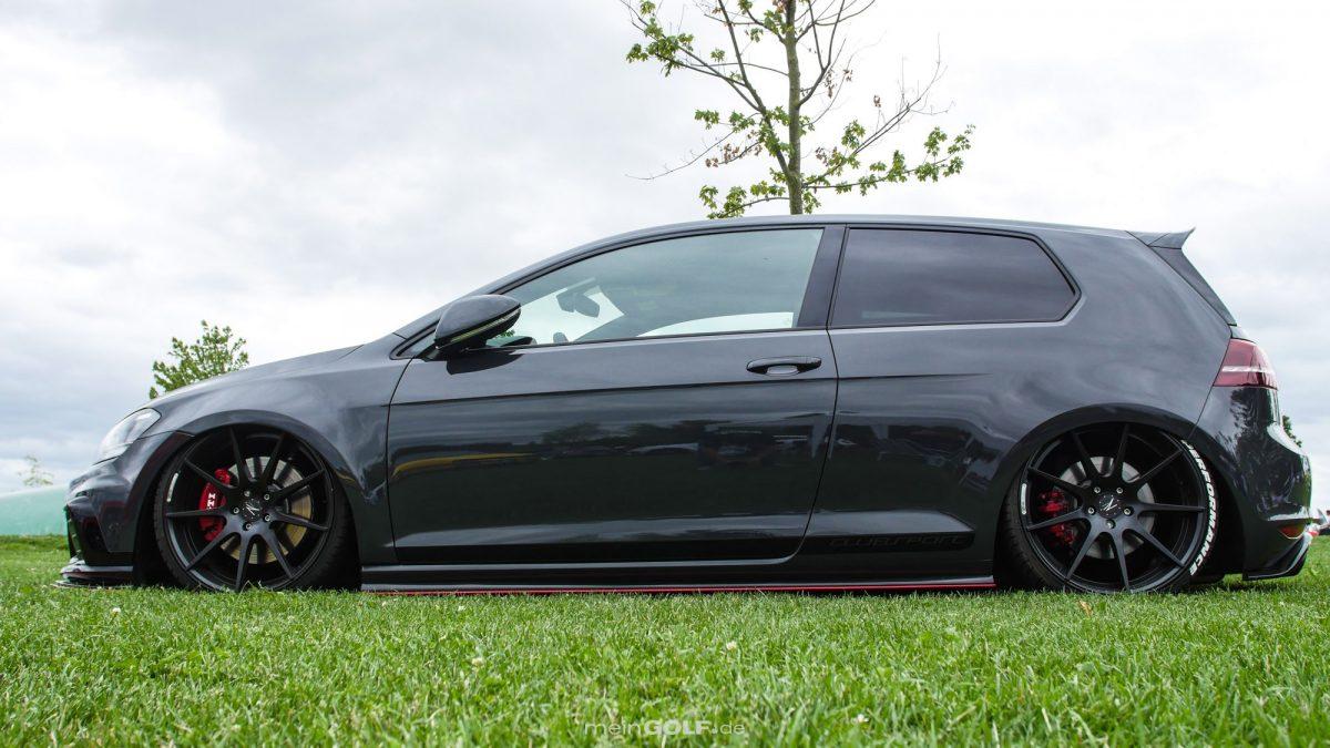 Seitenansicht des VW Golf VII GTI Clubsport