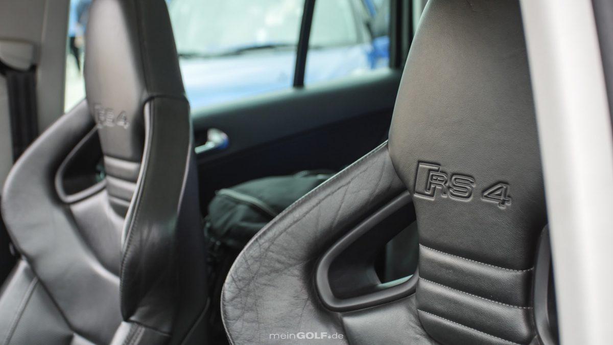 Schalensitze des Audi RS4 im VW Tiguan