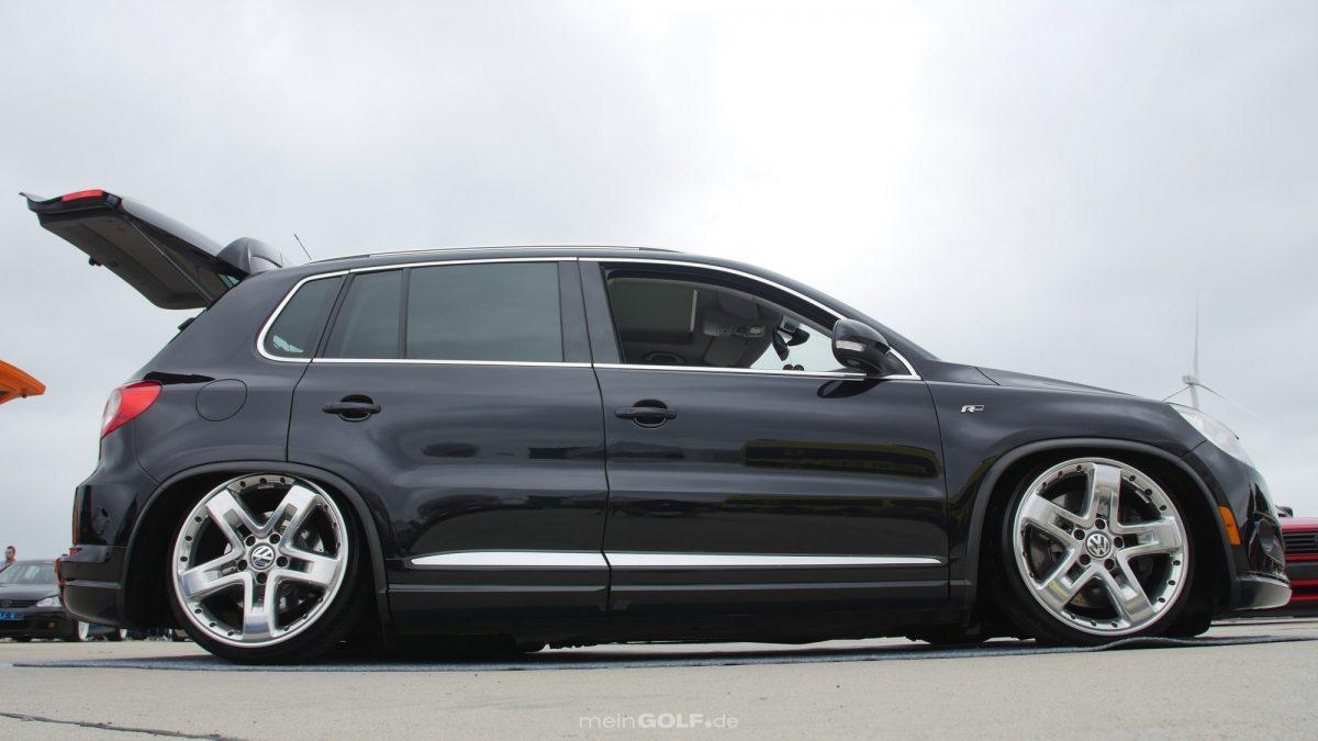 Seitenansicht des VW Tiguan
