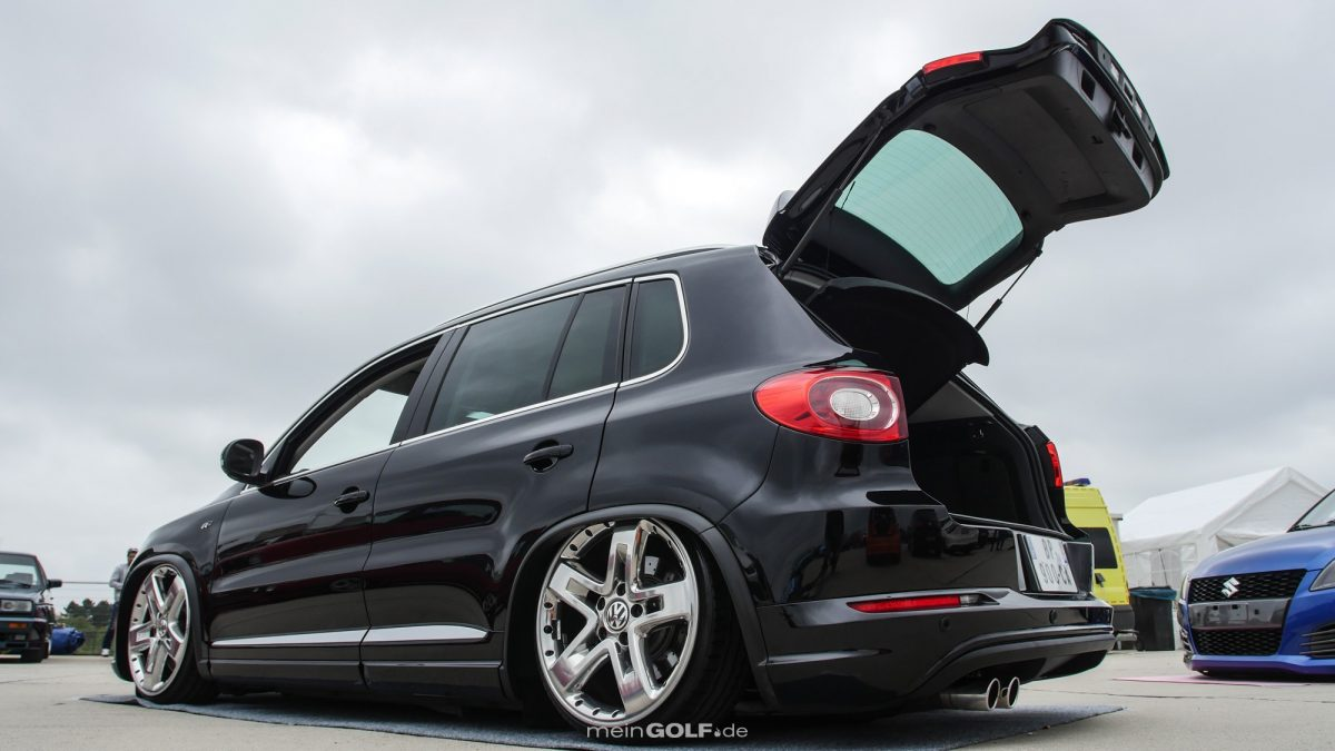 Heckansicht des VW Tiguan