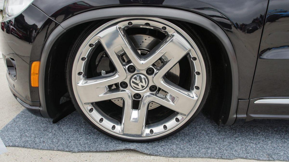 Chrom-Style an den Rädern des VW Tiguan