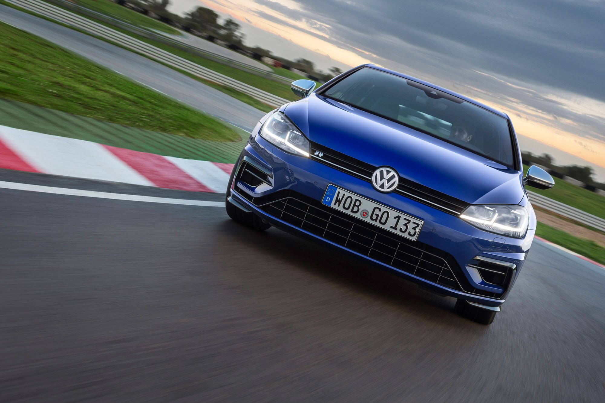 Front des VW Golf R Facelift