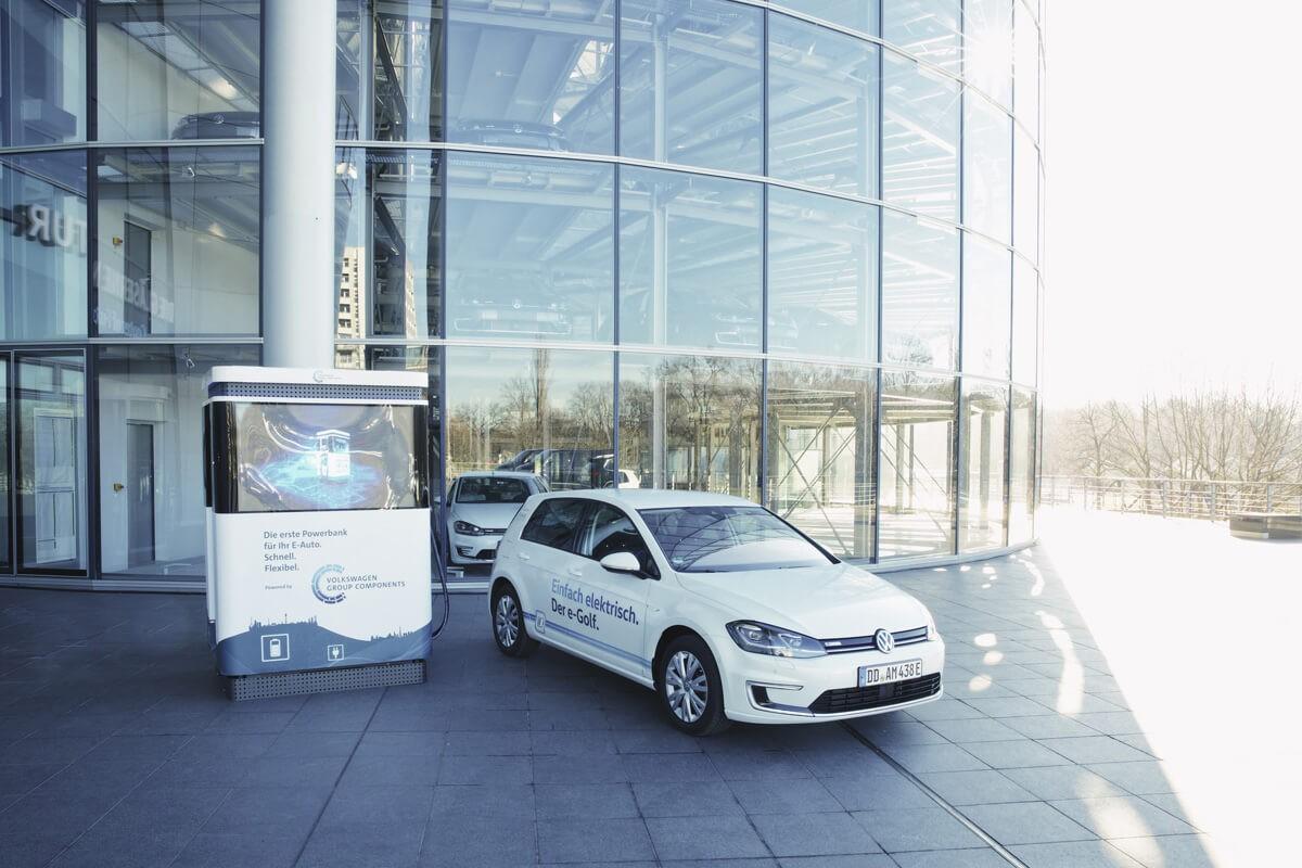 VW Schnellladestation in Dresden