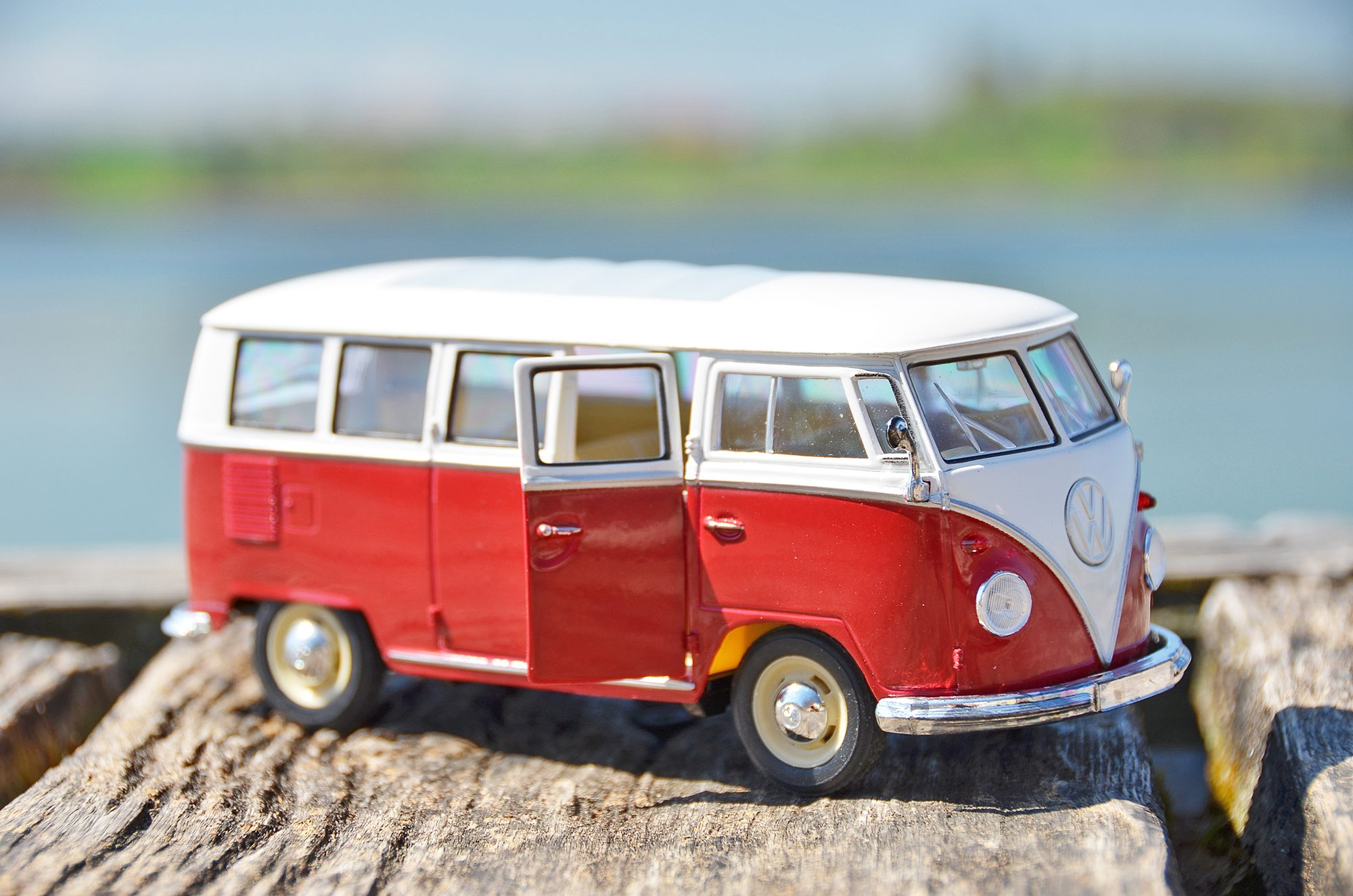 VW Bulli Modellauto, Miniatur